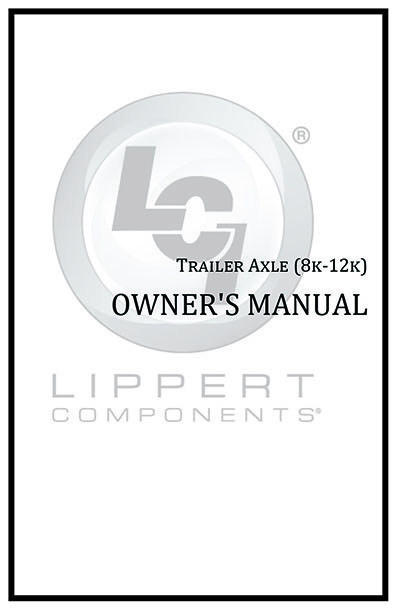Trailer Axle (8k-12k) Owners Manual Cover