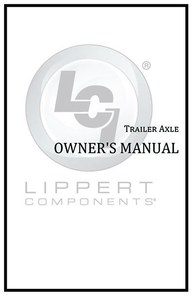Trailer Axle Owners Manual Cover