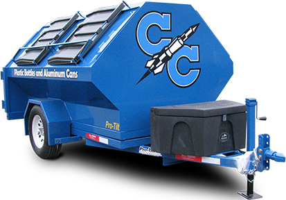 CC Rocket Pro-Tilt Recycling Trailer