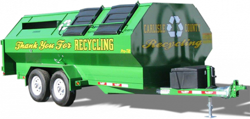 Carlisle County Pro-Tilt Recycling Trailer