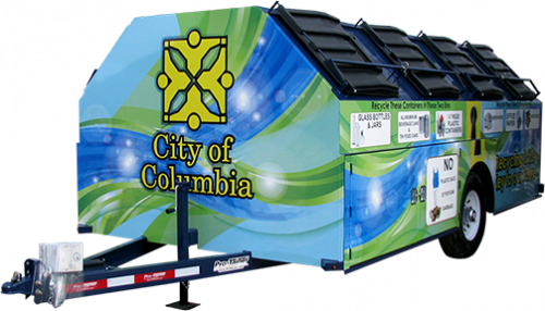 City of Columbia Pro-Gravity Recycling Trailer