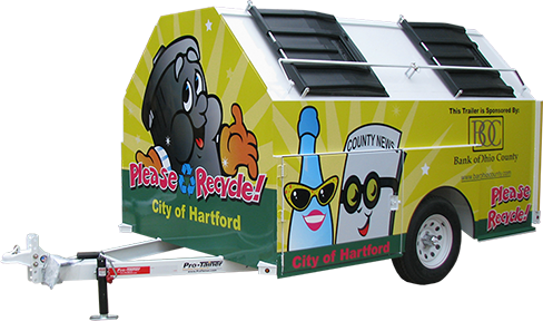 City of Hartford Pro-Gravity Recycling Trailer