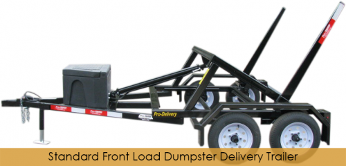 Front Load Dumpster Delivery Trailer