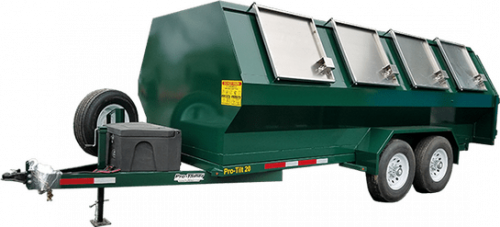 Green Pro-Tilt Recycling Trailer