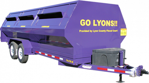 Lyon County Pro-Tilt Recycling Trailer