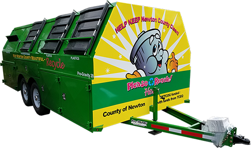 Newton County Pro-Gravity Recycling Trailer