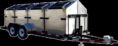 Pro-Bin Aluminum Bin Recycling Trailer