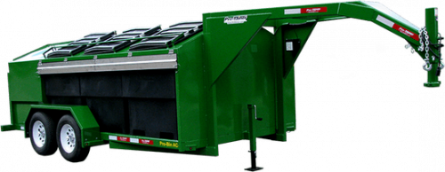 Pro-Bin Gooseneck Recycling Trailer