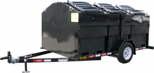 Pro-Bin Recycling Trailer Black