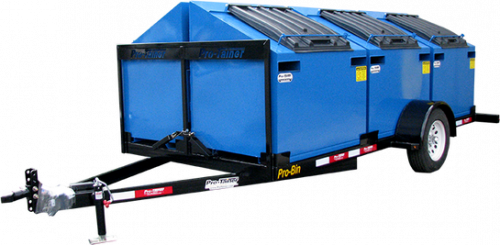 Pro-Bin Blue Recycling Trailer