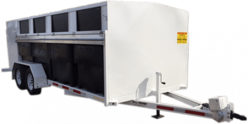 Pro-Bin Recycling Trailer White