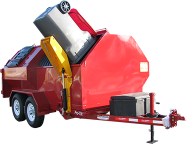 Pro-Tilt Recycling Trailer with Cart Tipper