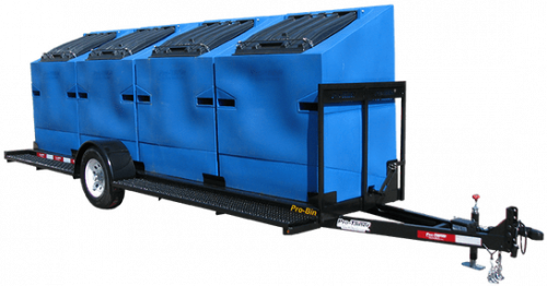Pro-Bin Recycling Trailer Blue
