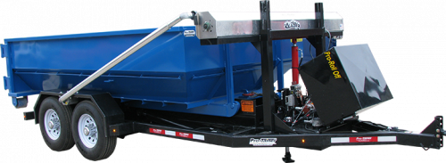 16 GVW Roll Off Trailer with 10yd Roll Off Dumpster