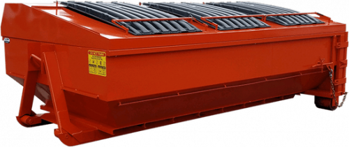Roll Off Dumpster with Custom Roof