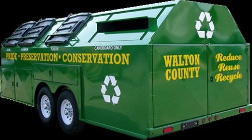 Walton County Pro-Gravity Recycling Trailer