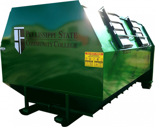 Decal Package on Recycle Roll Off