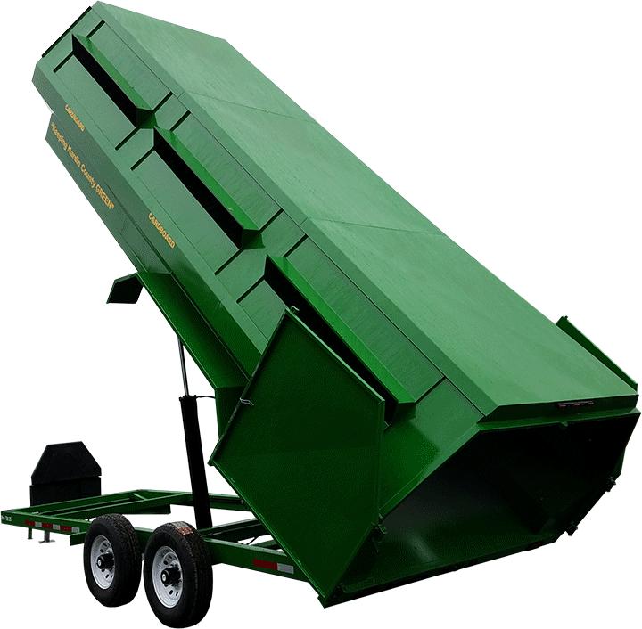 Pro-Tilt 25 Recycling Trailer - Green