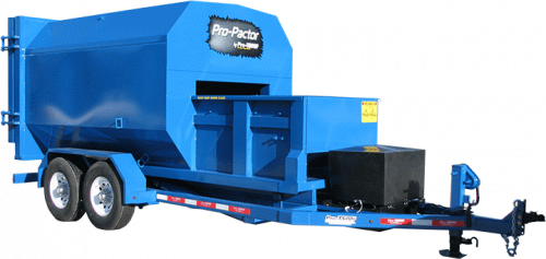 Blue Compactor Trailer