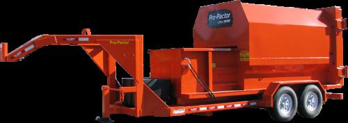Orange Gooseneck Compactor Trailer