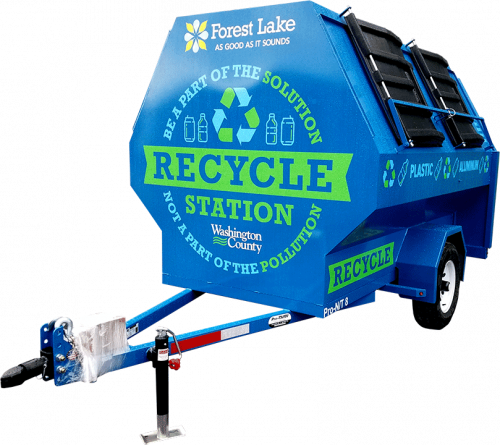 Blue Pro-Tilt Recycling Trailer