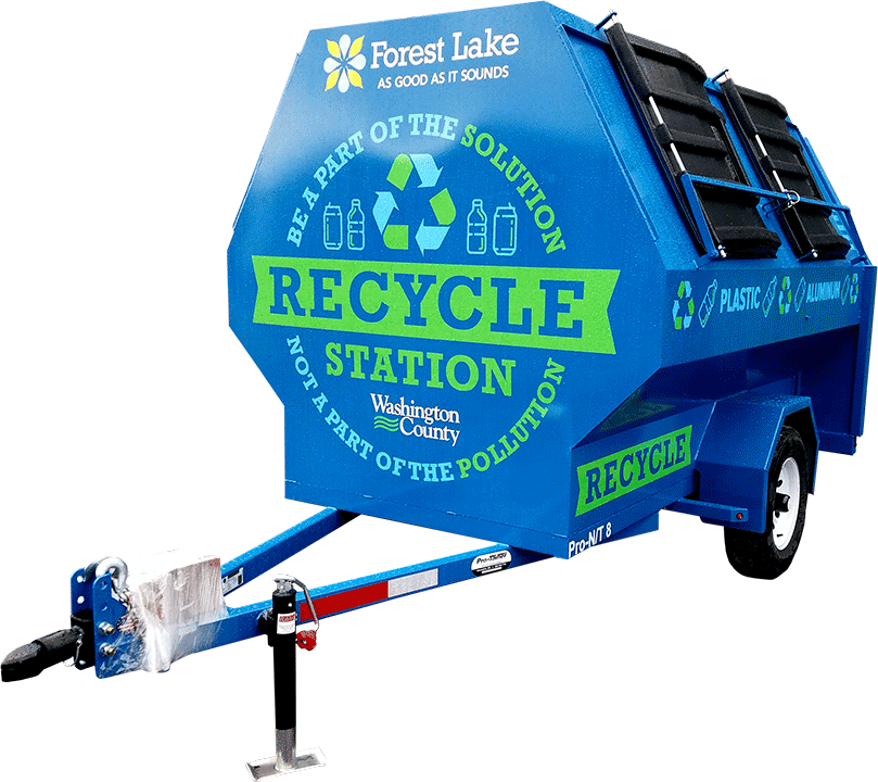 Blue Pro-Tilt Recycling Trailer