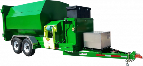 Green 15yd Compactor Trailer