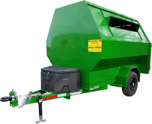 Green 8yd Pro-Tilt Recycling Trailer