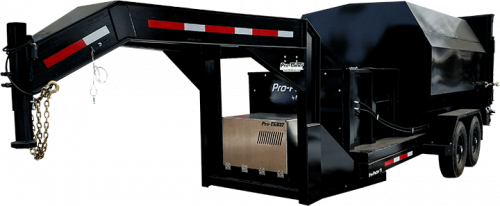 Gooseneck Pro-Pactor Compactor Trailer