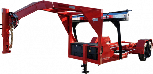 Gooseneck Geneva Roll Off Trailer Red
