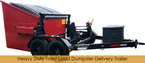 Front Load Dumpster Delivery Trailer HD